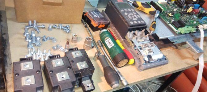 2018.11 : Ремонт преобразователя частоты Danfoss VLT AQUA Drive FC202 250кВт