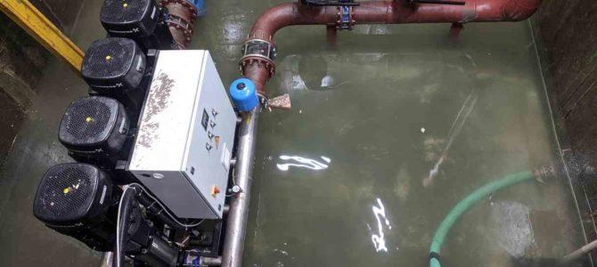2019.10 : Восстановление шкафа управления 4-мя насосами по 18,5кВт после затопления